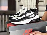Чоловічі кросівки Nike Air Max 270 React (біло-чорні) 9134, фото 2