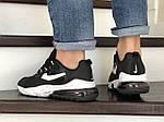 Чоловічі кросівки Nike Air Max 270 React (чорно-білі) 9135, фото 2