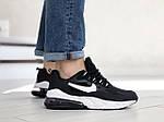 Чоловічі кросівки Nike Air Max 270 React (чорно-білі) 9135, фото 3