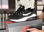 Чоловічі кросівки Nike Air Max 270 React (чорно-білі) 9135, фото 4