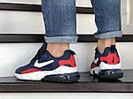Мужские кроссовки Nike Air Max 270 React (сине-белые с красным) 9136, фото 3