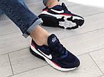 Мужские кроссовки Nike Air Max 270 React (сине-белые с красным) 9136, фото 5