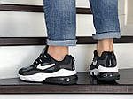 Чоловічі кросівки Nike Air Max 270 React (сіро-чорні з білим) 9137, фото 4