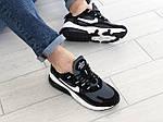 Чоловічі кросівки Nike Air Max 270 React (сіро-чорні з білим) 9137, фото 5