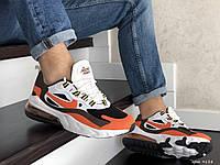 Мужские кроссовки Nike Air Max 270 React (бело-оранжевые) 9138