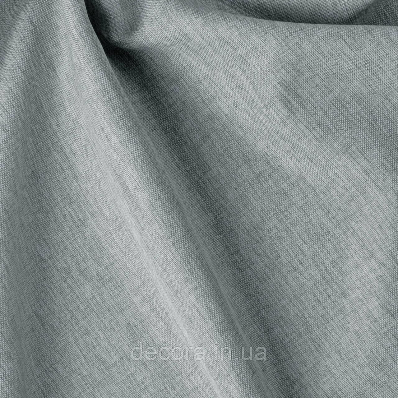 Римська штора із однотонної тканини рогожка сіра 122000v22