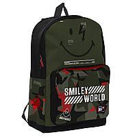 """Рюкзак молодежный YES T-67 """"Smiley World"""" Military boy"""