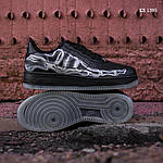 Мужские кроссовки Nike Air Force 1 Low Skeleton (черные) KS 1395, фото 4