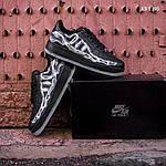 Мужские кроссовки Nike Air Force 1 Low Skeleton (черные) KS 1395, фото 6