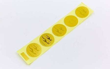 Наклейка (жетон) на медаль, кубок d-2,5см Плавание (1,2,3 место, 1уп.-120шт, цена за 1шт) Золотой PZ-25-0090_1, фото 2