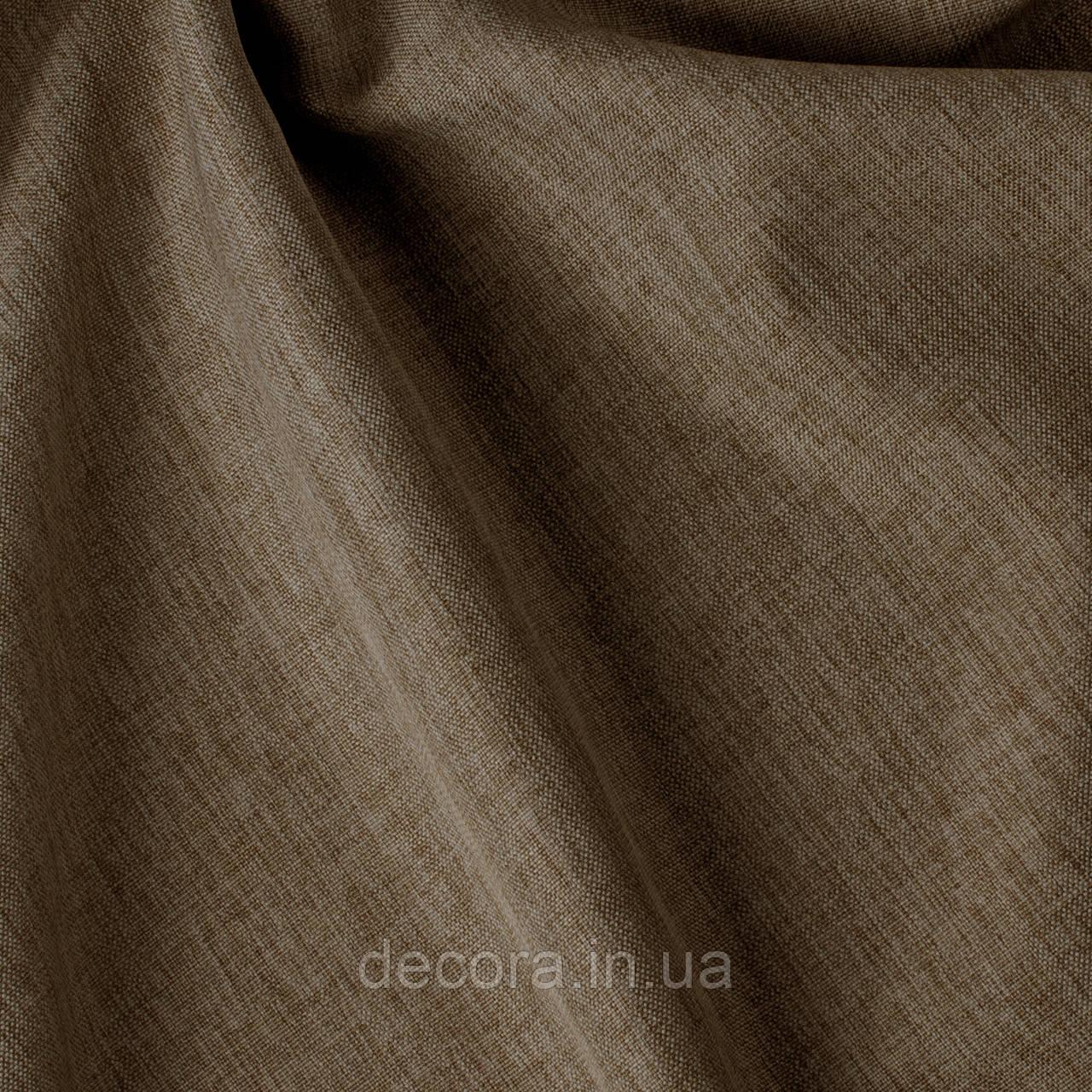 Римська штора із однотонної тканини рогожка коричнева 122000v30