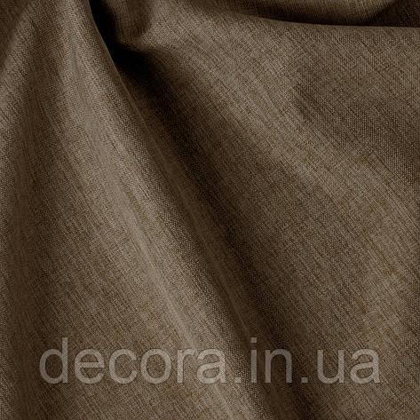Римська штора із однотонної тканини рогожка коричнева 122000v30, фото 2