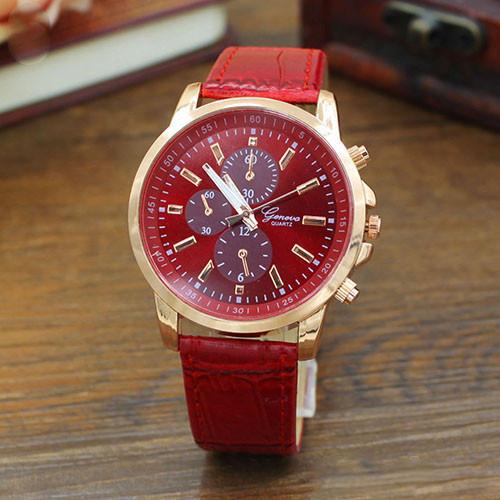 Женские наручные часы Geneva Classic красные