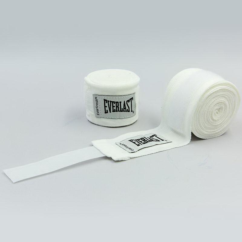 Бинты боксерские (2шт) хлопок с эластаном Everlast LEVEL 2 (l-4,50м) Белый PZ-4456_1