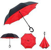 Зонтик одноцветной umbrella КРАСНЫЙ № F08-F