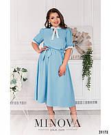 Эффектное платье для пышных дам с кружевом,  размер от 50 до 60
