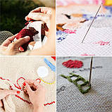 Набор для вышивания DIY 136 предметов для вышивки Нитки инструменты и аксессуары наборы для вышивания крестом, фото 6
