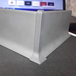 Заглушка внешняя для алюминиевого плинтуса накладного 40-60-80ММ
