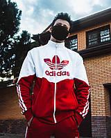 Худи-зиппер Adidas Thrino Красно-белый