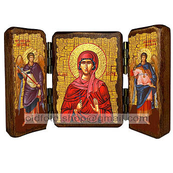 Икона Агафия Святая мученица  ,икона на дереве 260х170 мм