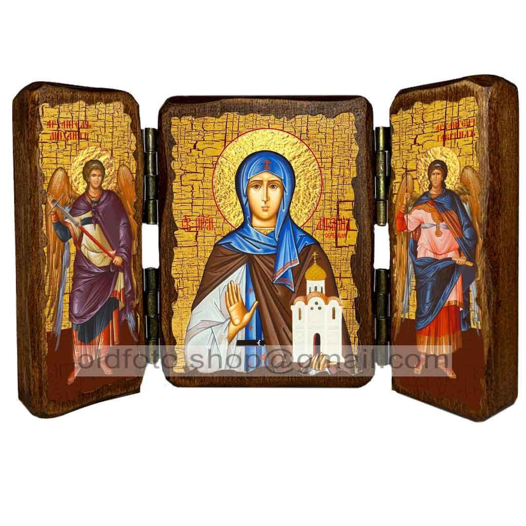 Икона Ангелина Святая Преподобная Сербская  ,икона на дереве 260х170 мм