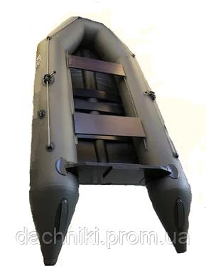 Надувная килевая двухместная Лодка SKIF 280К с транецем под мотор ПВХ, фото 2