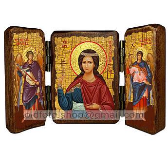 Икона Василиса Святая Блаженная  ,икона на дереве 260х170 мм