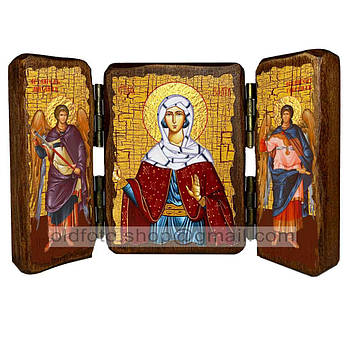 Икона Злата Святая Мученица  ,икона на дереве 260х170 мм