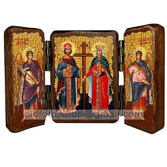 Икона Константин и Елена Святые Равноапостольные  ,икона на дереве 260х170 мм
