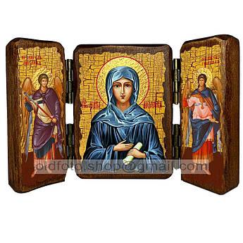 Икона Мелания Святая Римляныня  ,икона на дереве 260х170 мм