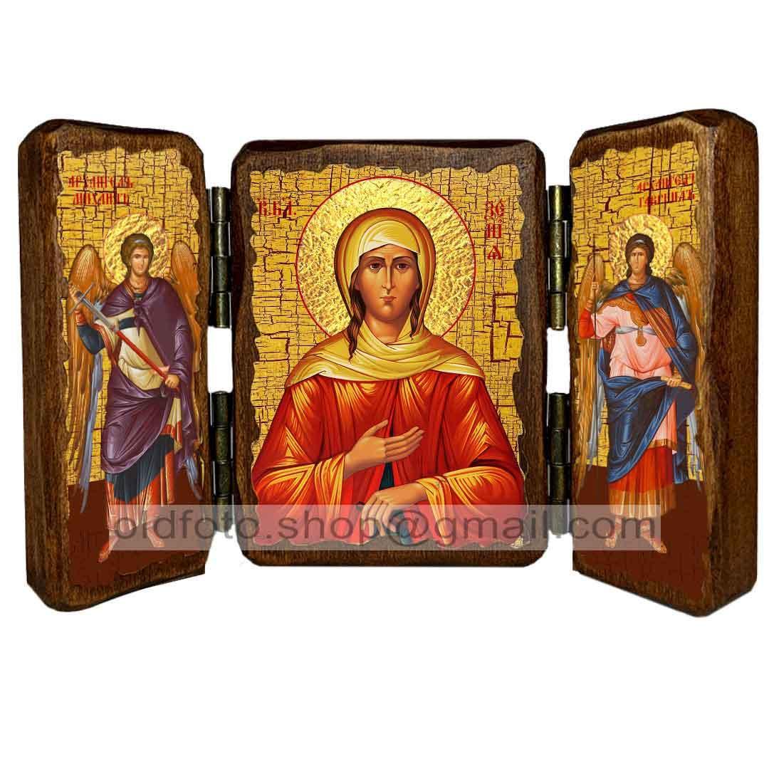 Ікона Ксенія Свята Блаженна Петербурзька (складень потрійний 260х170 мм)