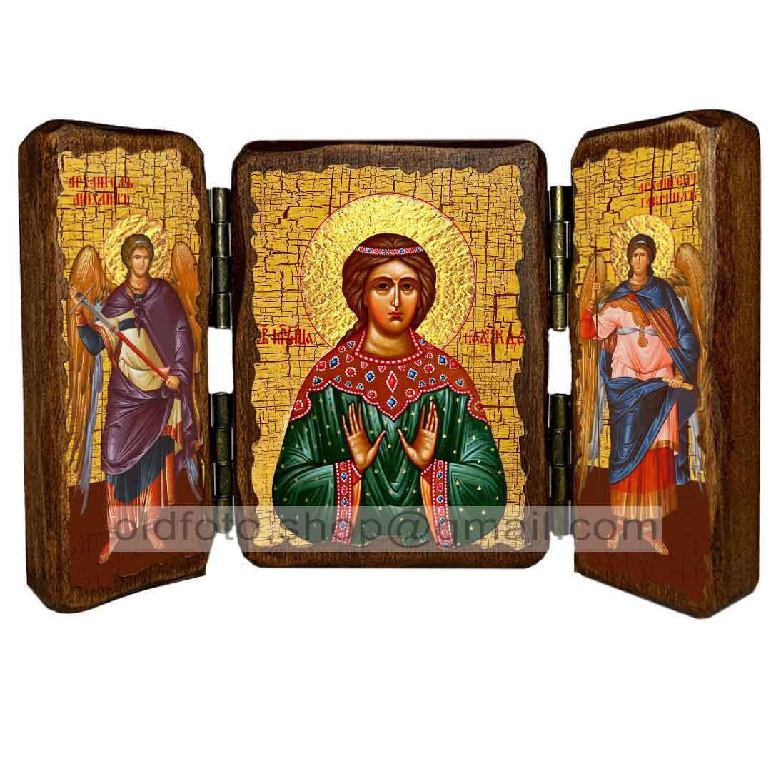Икона Надежда Святая Мученица Римская  ,икона на дереве 260х170 мм