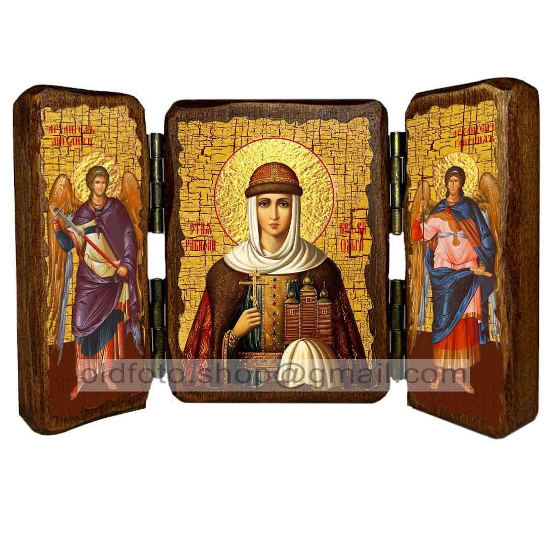 Икона Ольга Святая Княгиня  ,икона на дереве 260х170 мм