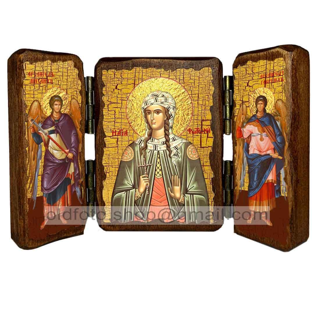 Икона Светлана Святая Мученица  ,икона на дереве 260х170 мм