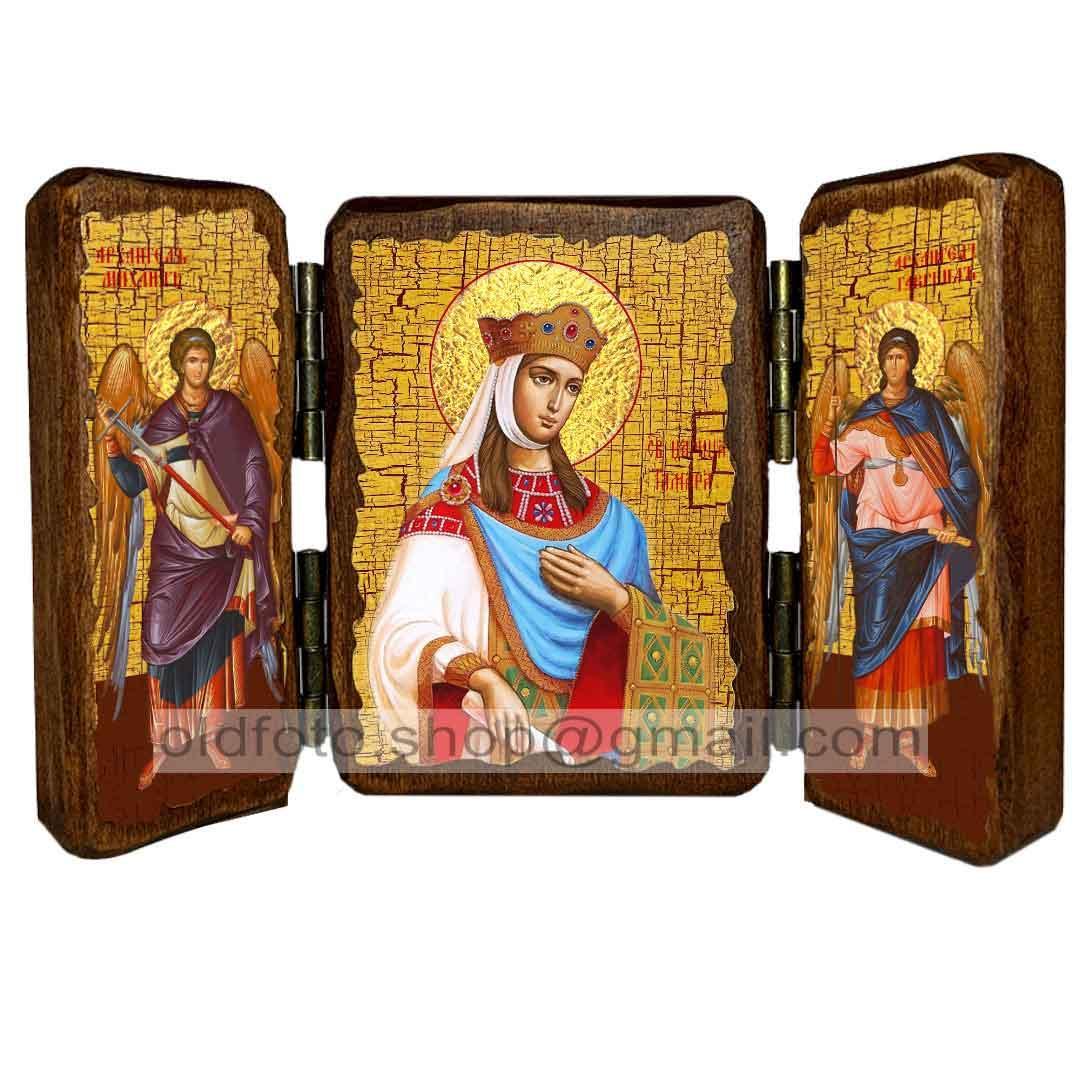 Икона Тамара Святая Царица Великая  ,икона на дереве 260х170 мм