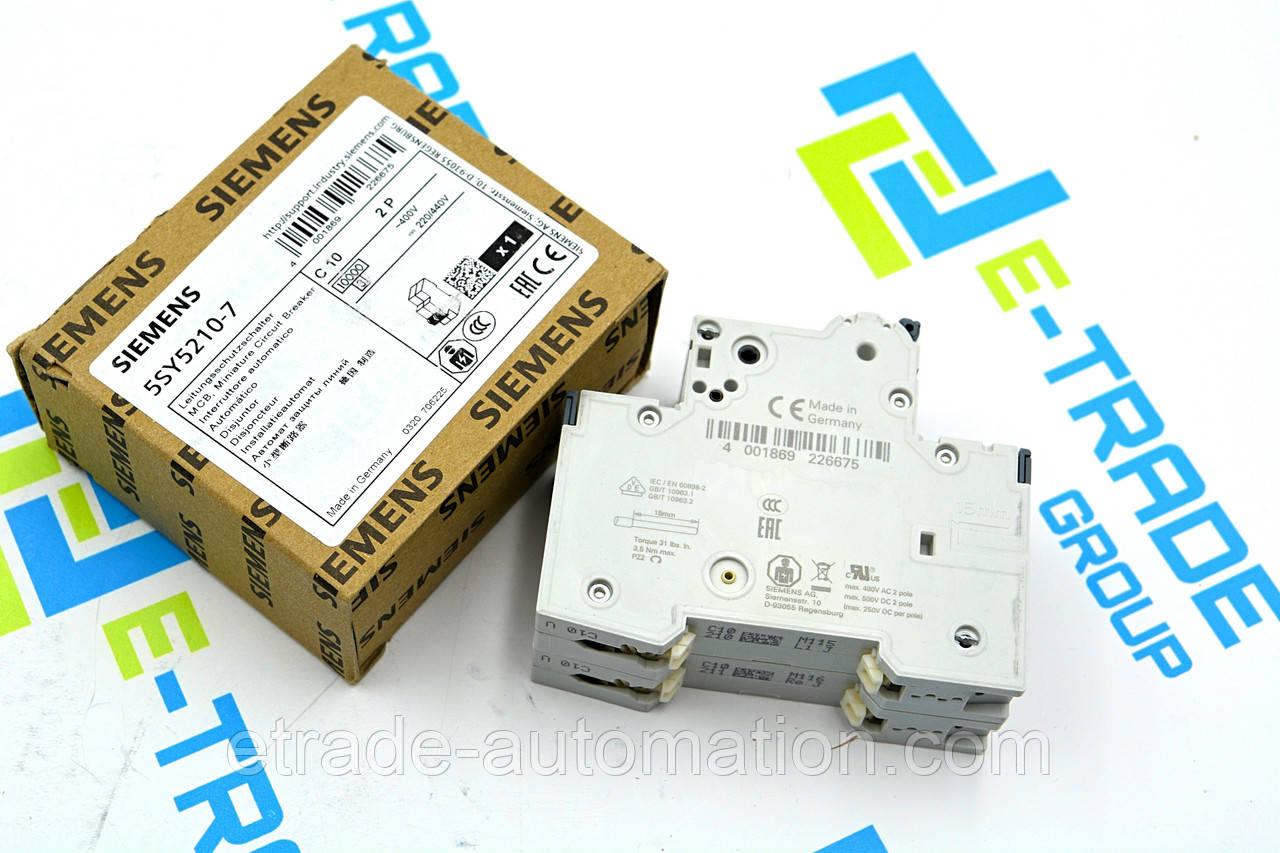 Автоматичний вимикач Siemens 5SY5210-7