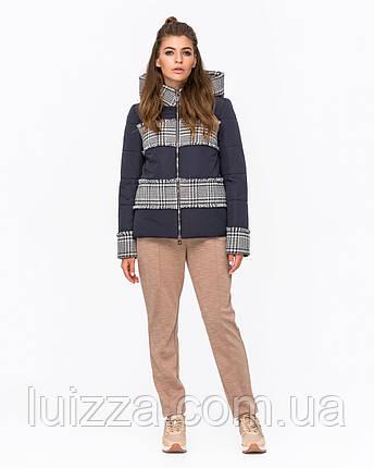 Куртка комбинированная с твидом синяя 42-50р, фото 2