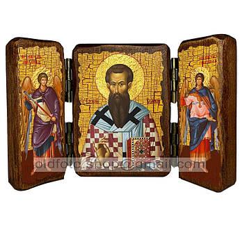 Икона Василий Святитель Великий  ,икона на дереве 260х170 мм