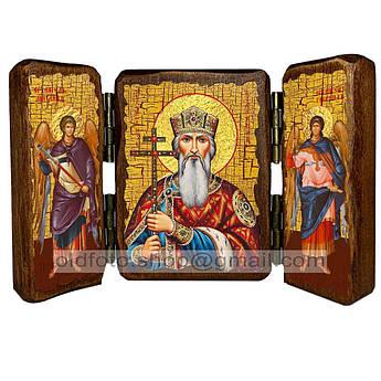 Икона Владимир Святой Равноапостольный Князь  ,икона на дереве 260х170 мм