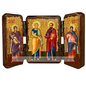 Икона Петр и Павел Святые Апостолы  ,икона на дереве 260х170 мм