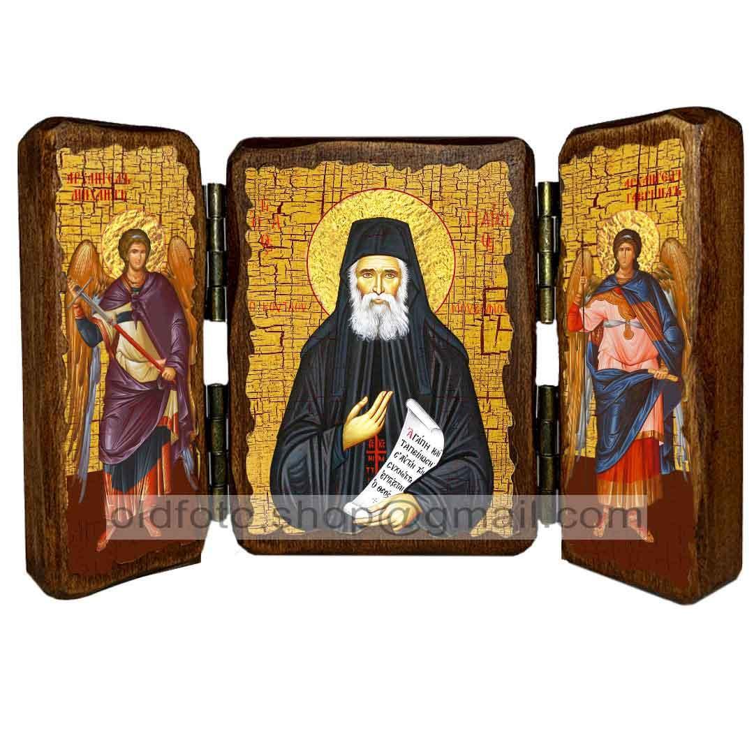 Икона Паисий Преподобный Святогорец  ,икона на дереве 260х170 мм