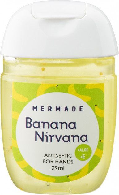 Санитайзер антисептик для рук Mermade Banana Nirvana(сладкий банан)Perfume Hand Gel 29 мл