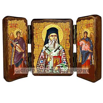 Икона Нектарий Святитель Эгинский   ,икона на дереве 260х170 мм