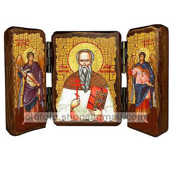 Икона Мирон Кизический Священномученик  ,икона на дереве 260х170 мм