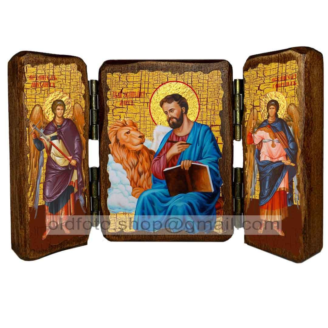 Икона Марк Святой Апостол и Евангелист  ,икона на дереве 260х170 мм