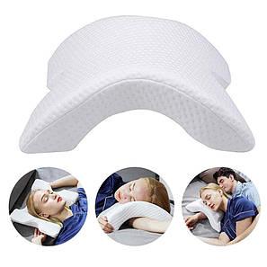 Подушка для шеи из пены с эффектом памяти изогнутая, фото 2