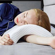 Подушка для шеи из пены с эффектом памяти изогнутая, фото 3