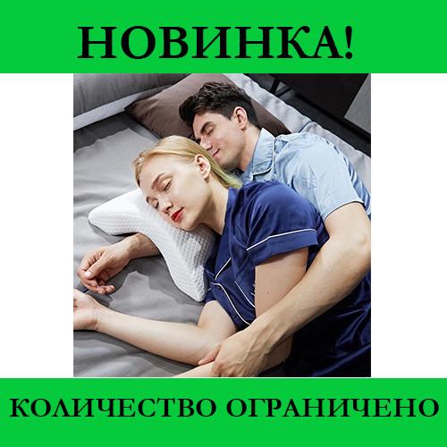 Подушка для шеи из пены с эффектом памяти изогнутая
