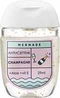Санитайзер антисептик для рук Mermade Champagne Hand Gel 29 мл 70% спирта