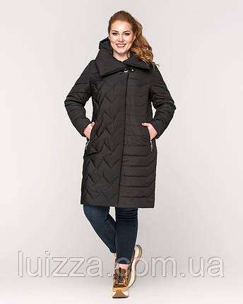Женская куртка ботал черный 48-60рр, фото 2